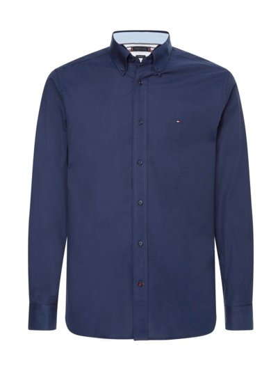 Hemd mit Button-Down Kragen, Regular Fit in MARINE