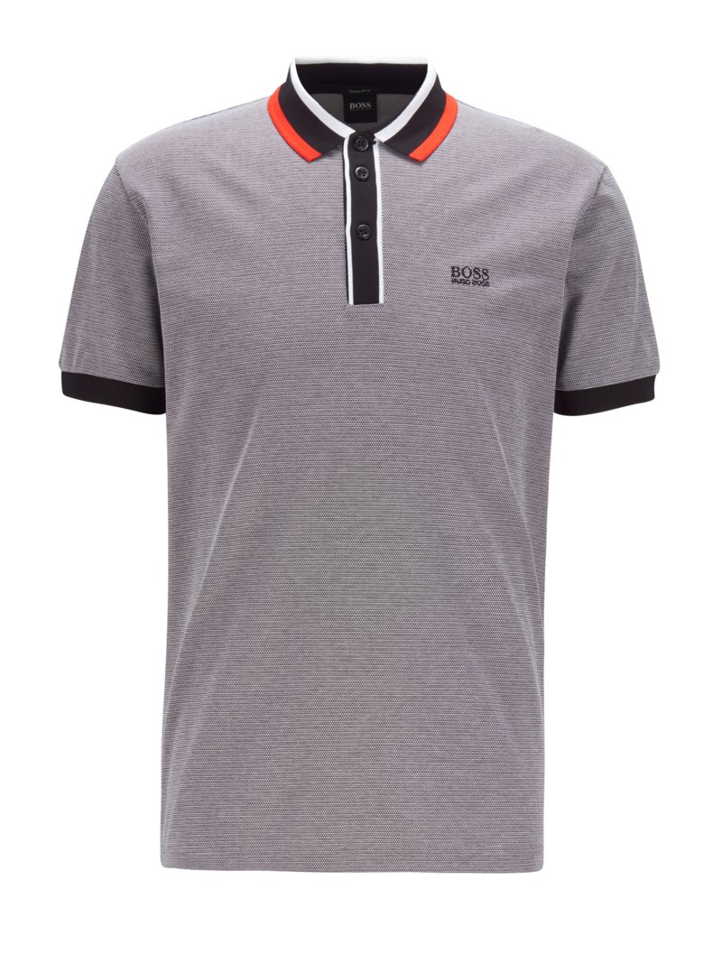 Poloshirt, Regular Fit in SCHWARZ