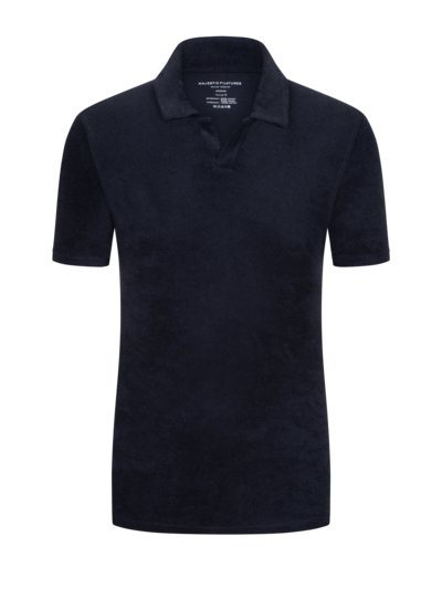 Poloshirt aus Frottee-Stoff in MARINE