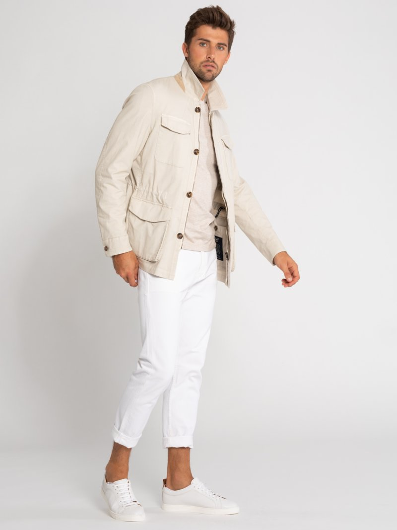 Fieldjacket mit Stretchanteil, Caruso in BEIGE