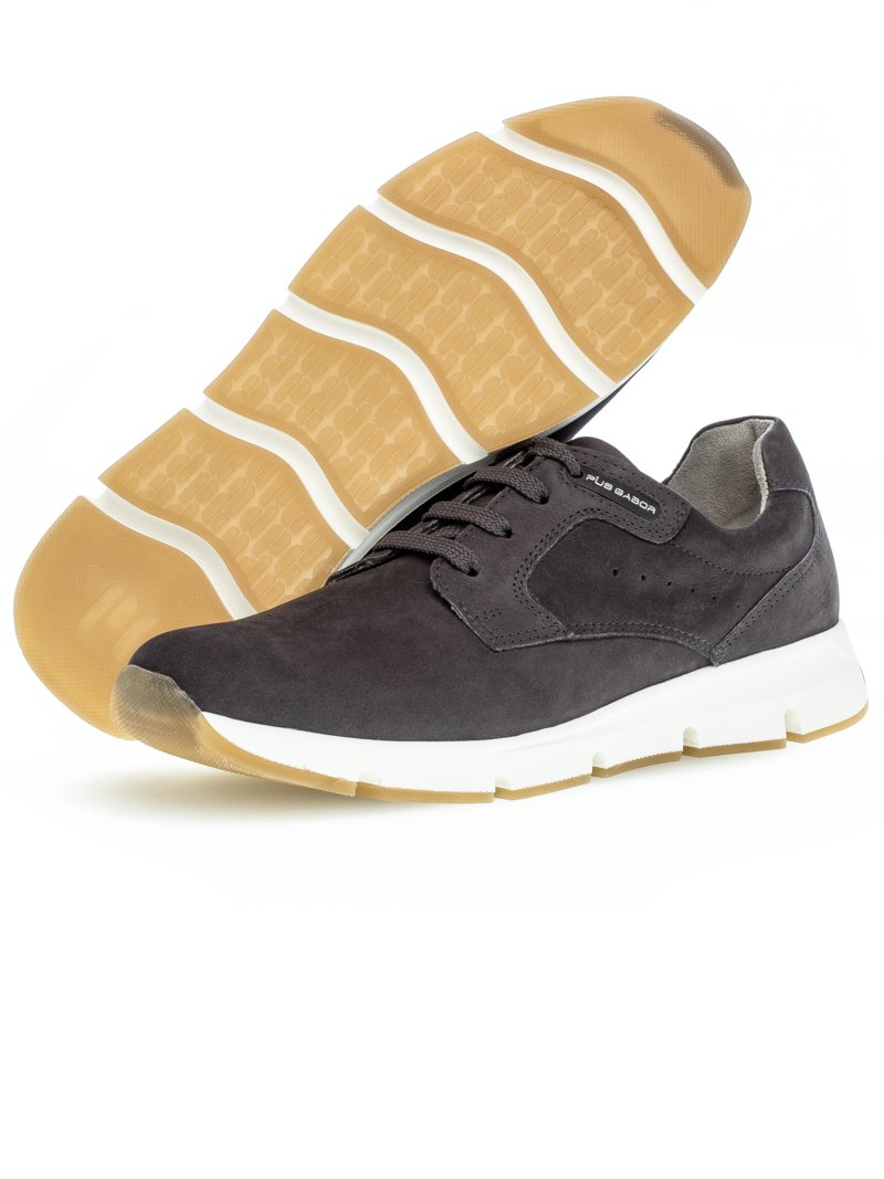 Sneaker in Nubuk-Leder in MARINE