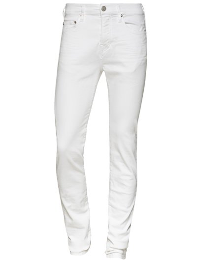 Jeans, Relaxed Skinny in WEISS