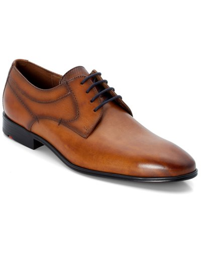 Eleganer Derby-Businessschuh in BRAUN