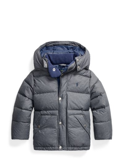 Daunenjacke mit Kapuze, Kids Collection in GRAU
