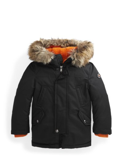 Parka mit Kunstfell-Saum, Kids Collection in SCHWARZ
