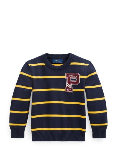 Pullover mit Ringelmuster, Kids Collection in MARINE