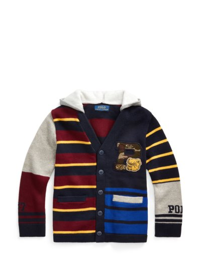 Modischer Cardigan mit Kapuze, Kids Collection in MARINE