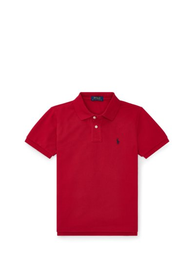 Poloshirt in reiner Baumwolle, Slim Fit, Kids Collection in ROT