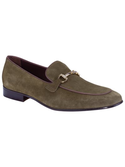 Eleganter Loafer in Veloursleder in GRUEN