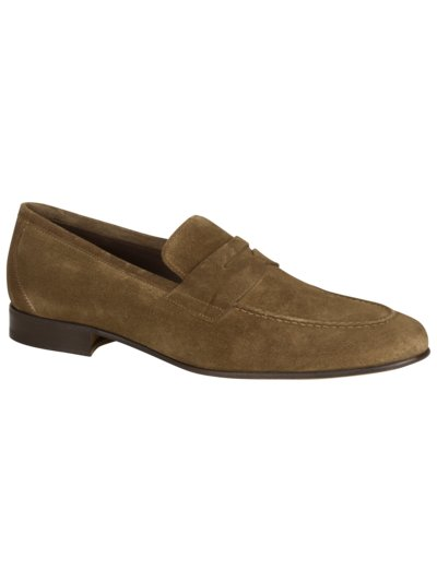 Pennyloafer in Veloursleder in BEIGE
