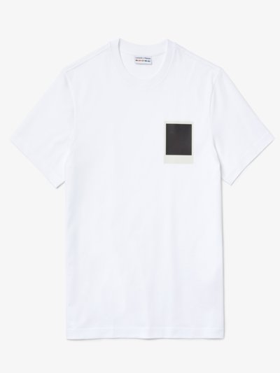 T-Shirt mit 'One-Touch' Logo, Lacoste x Polaroid in WEISS
