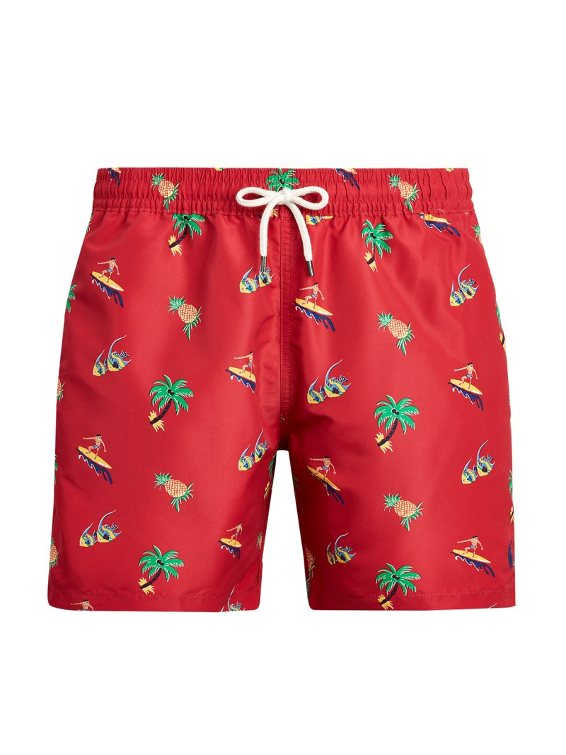 Badehose mit Print in ROT