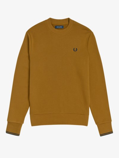 Sweatshirt mit Logo-Stickerei in SAND