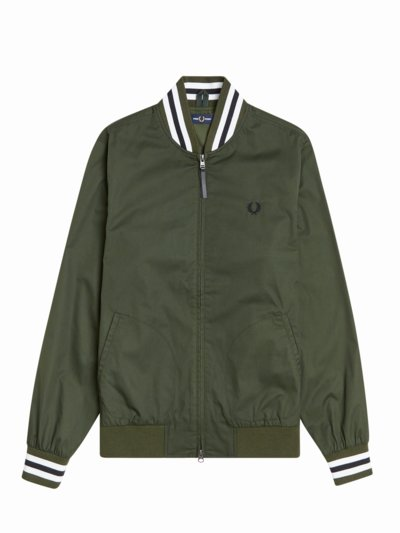 College-Jacke in OLIV