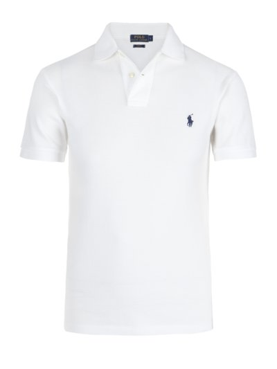 Poloshirt, Slim Fit in WEISS