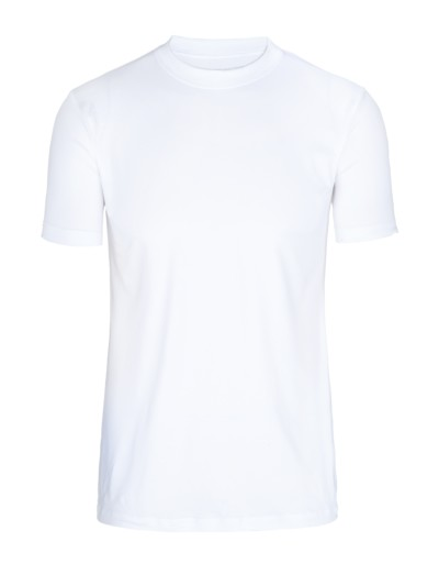 Dry Cotton Rundhals T-Shirt in WEISS