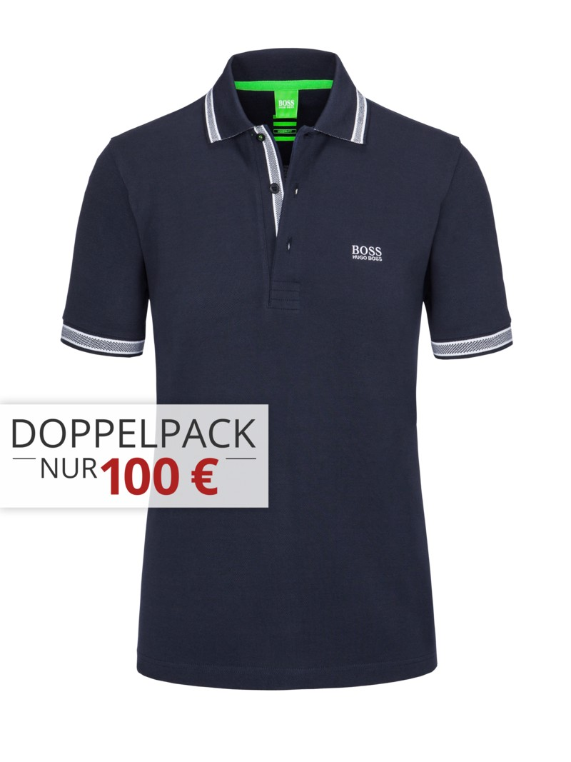 hirmer aktuelles pique poloshirt modern fit von boss green in navy f r herren g nstig. Black Bedroom Furniture Sets. Home Design Ideas
