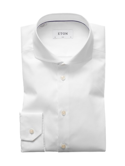 Feines Slim Fit Businesshemd in WEISS