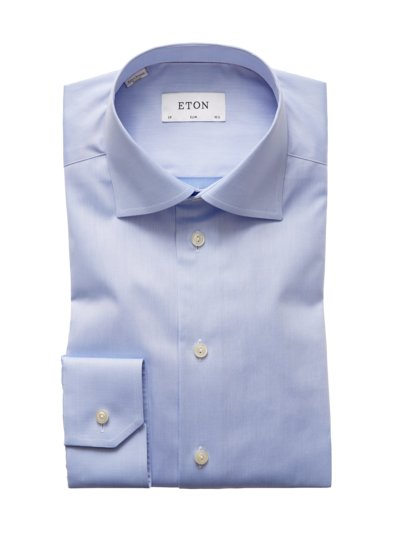 Edles Slim Fit Businesshemd in BLAU