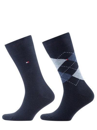2er Pack Socken mit Stretchanteil in MARINE