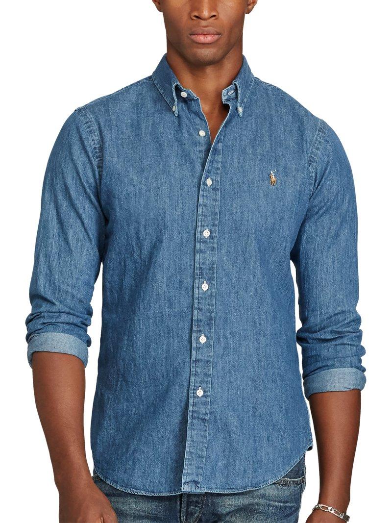 0293a917413 Polo Ralph Lauren Slim Fit Jeanshemd blau – Hirmer Herrenmode
