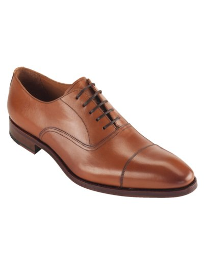 Hochwertiger Businessschuh, Oxford in COGNAC