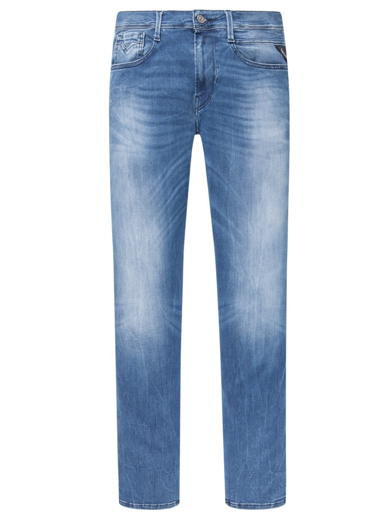 Slim Fit Jeans, Anbass in BLAU