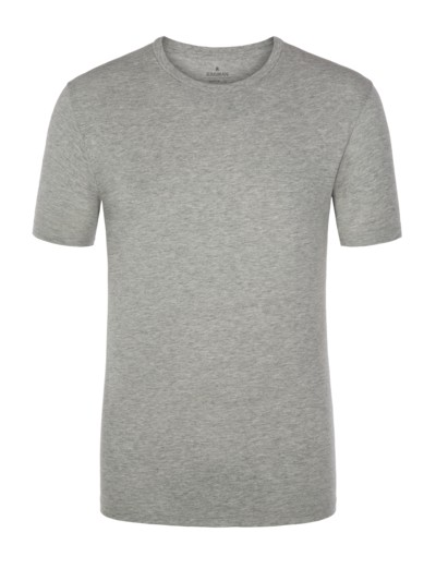 Bequemes Basic T-Shirt, Pure Pima Cotton in GRAU