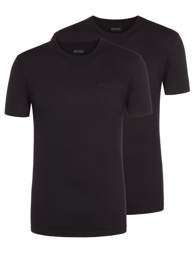 O-Neck T-Shirt im 2er Pack in SCHWARZ