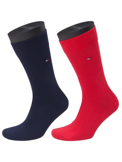 Bunter Socken Doppelpack in ROT