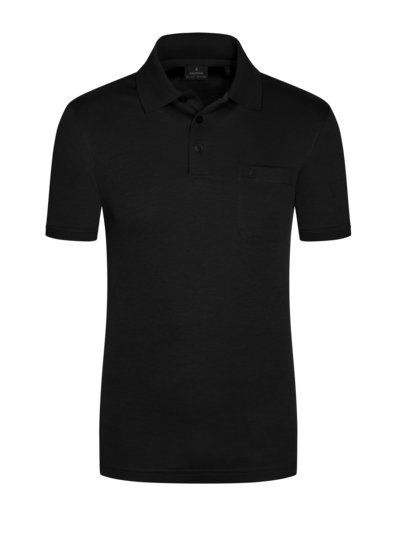 Poloshirt, Pinpoint-Optik in SILBER