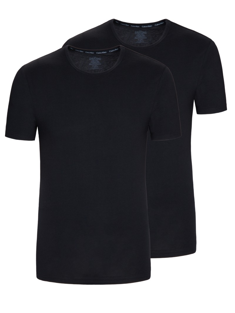 Crew-Neck T-Shirt, 2er Pack in WEISS