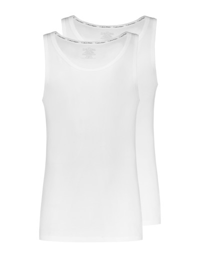 Tanktops, 2er Pack in WEISS