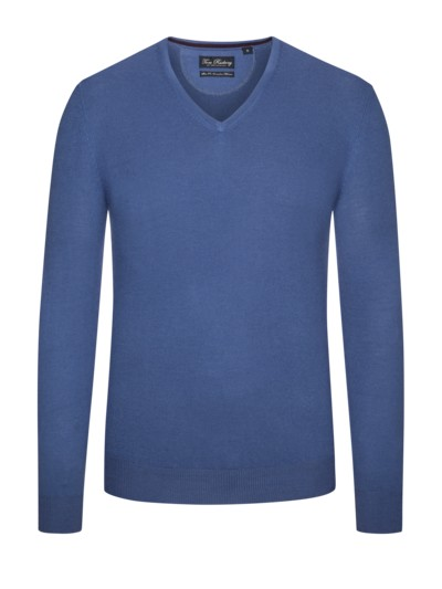 Pullover aus 100% Merinwolle in DENIM