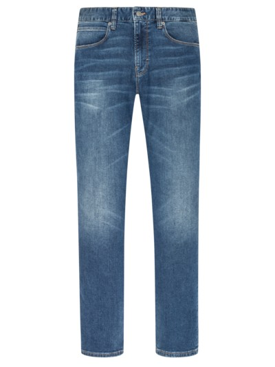5-Pocket-Jeans mit Auswaschungen in DENIM