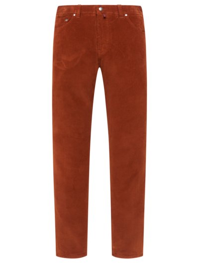 Cordjeans in Baumwoll/Stretch Qualität in ORANGE