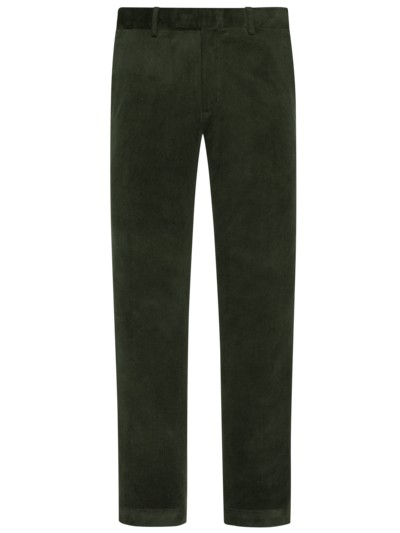 Softe Feincord-Chino mit Stretchanteil, Slim Fit in GRUEN