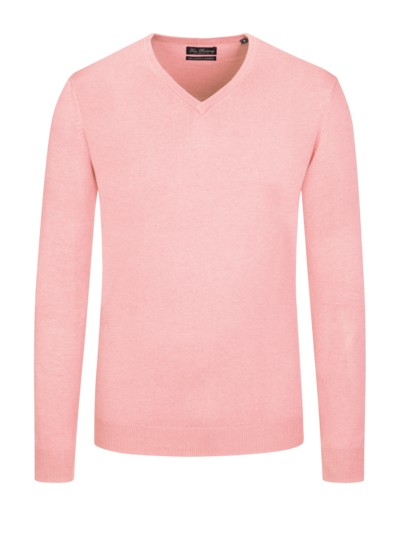 V-Neck, Pima-Baumwolle-Kaschmirmix in ROSE