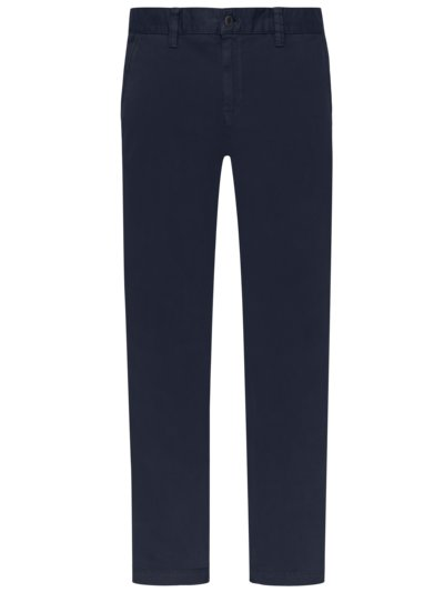 Chino mit Stretchanteil, Regular Slim Fit in MARINE