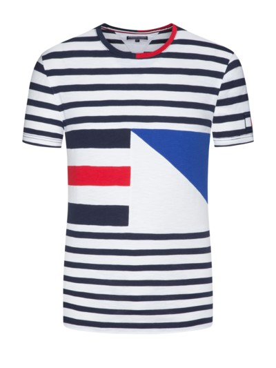 T-Shirt, Mustermix in MARINE