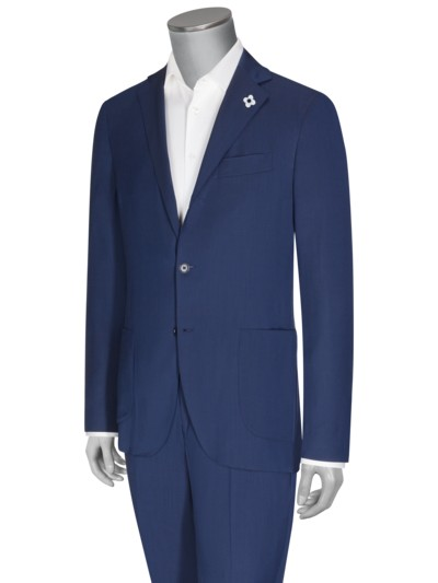 Extra Slim Fit Stretch-Businessanzug in ROYAL