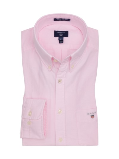 Oxford-Freizeithemd, Button-Down-Kragen in ROSE