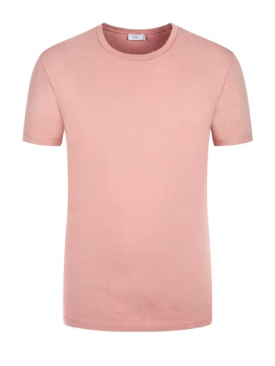 T-Shirt, uni in ROSA