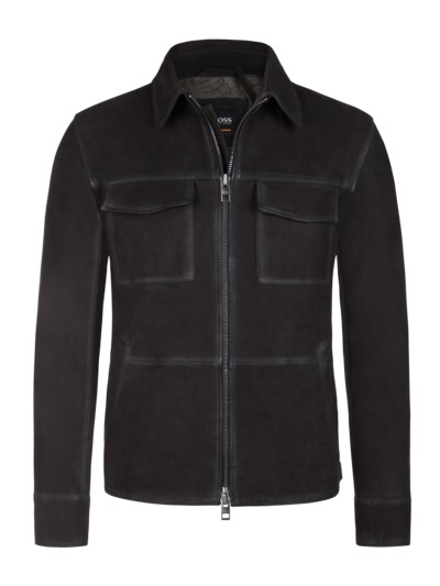 Slim Fit Hemdjacke, Jaggers in SCHWARZ