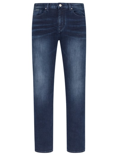 Slim Fit Stretch-Jeans, Cotton made in Africa in MARINE