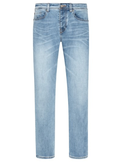 Legere 5-Pocket-Jeans, Tapered Fit in BLAU