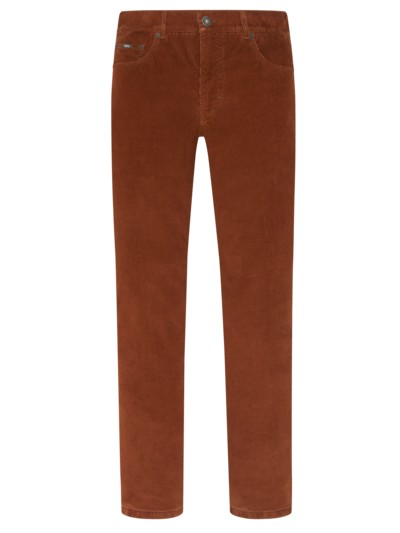 5-Pocket-Thermohose 'Cooper', Stretchcord in COGNAC