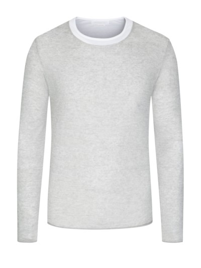 Pullover, Double-Layer-Optik in GRAU