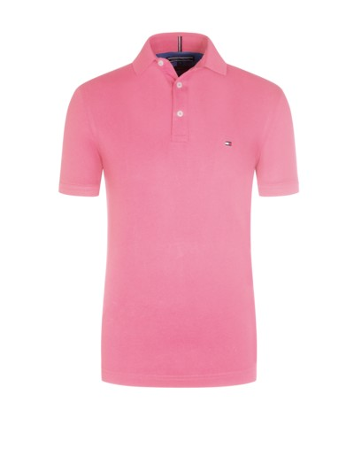 Slim Fit Poloshirt, uni in ROSE