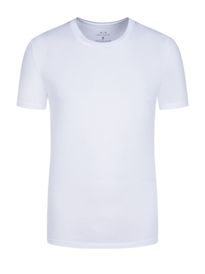 T-Shirt, uni, Slim in WEISS